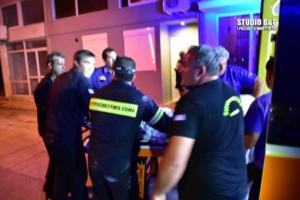 Ναύπλιο: Υποχώρησε το τζάμι και έπεσε στο φωταγωγό! – video