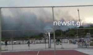 Κόλαση φωτιάς δίπλα στα θερινά θέρετρα των στρατιωτικών σε Ζούμπερι και Άγιο Ανδρέα! – video