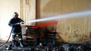 Κόρινθος: Μεγάλες ζημιές από τη φωτιά στη χαρτοβιομηχανία – video