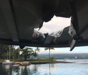 Βόμβα λάβας χτύπησε τουριστικό σκάφος στην Χαβάη! – video