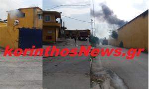 Φωτιά σε χαρτοβιομηχανία στο Βέλο Κορινθίας [pic]