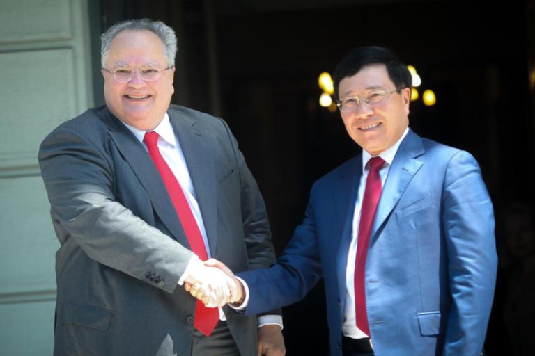 Συνάντηση Κοτζιά με τον αναπληρωτή πρωθυπουργό του Βιετνάμ