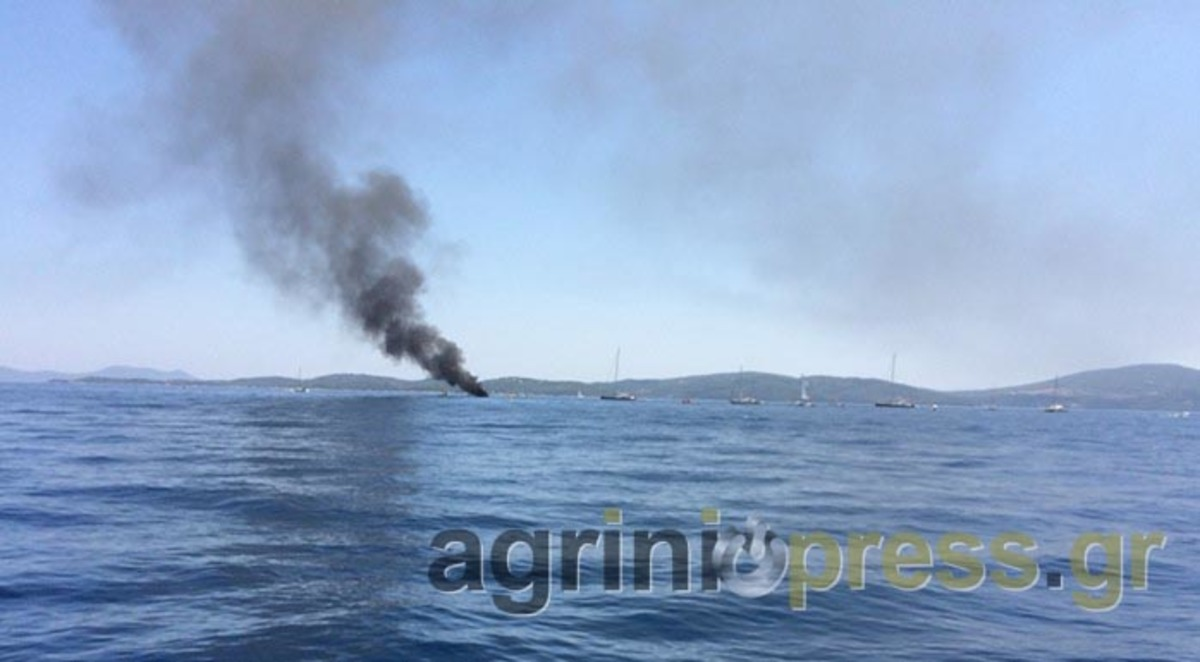 Στις φλόγες ιστιοφόρο μεταξύ Μεγανησίου και Λευκάδας [pics] | Newsit.gr