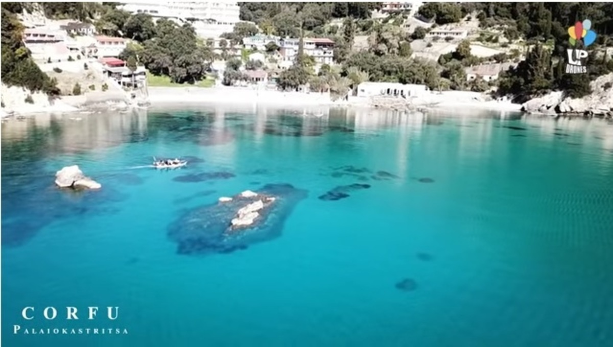 Παλαιοκαστρίτσα: Ο μαγευτικός τιρκουάζ κόλπος της Κέρκυρας από ψηλά – video   Newsit.gr
