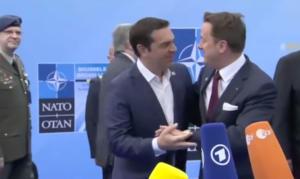 Σύνοδος ΝΑΤΟ: Το πείραγμα του πρωθυπουργού του Λουξεμβούργου στον Αλέξη Τσίπρα – video