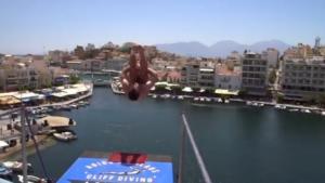 Βουτιές που κόβουν την ανάσα στο Agios Nikolaos Cliff diving 2018 – video