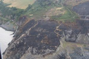 Η φωτιά αποκάλυψε μήνυμα του Β' Παγκοσμίου Πολέμου – To drone εστιάζει και αποκαλύπτει [pics]