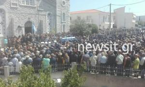 Λαοθάλασσα στην κηδεία του Επισμηναγού Νικόλαου Βασιλείου – Ράγισαν και οι πέτρες [pics]