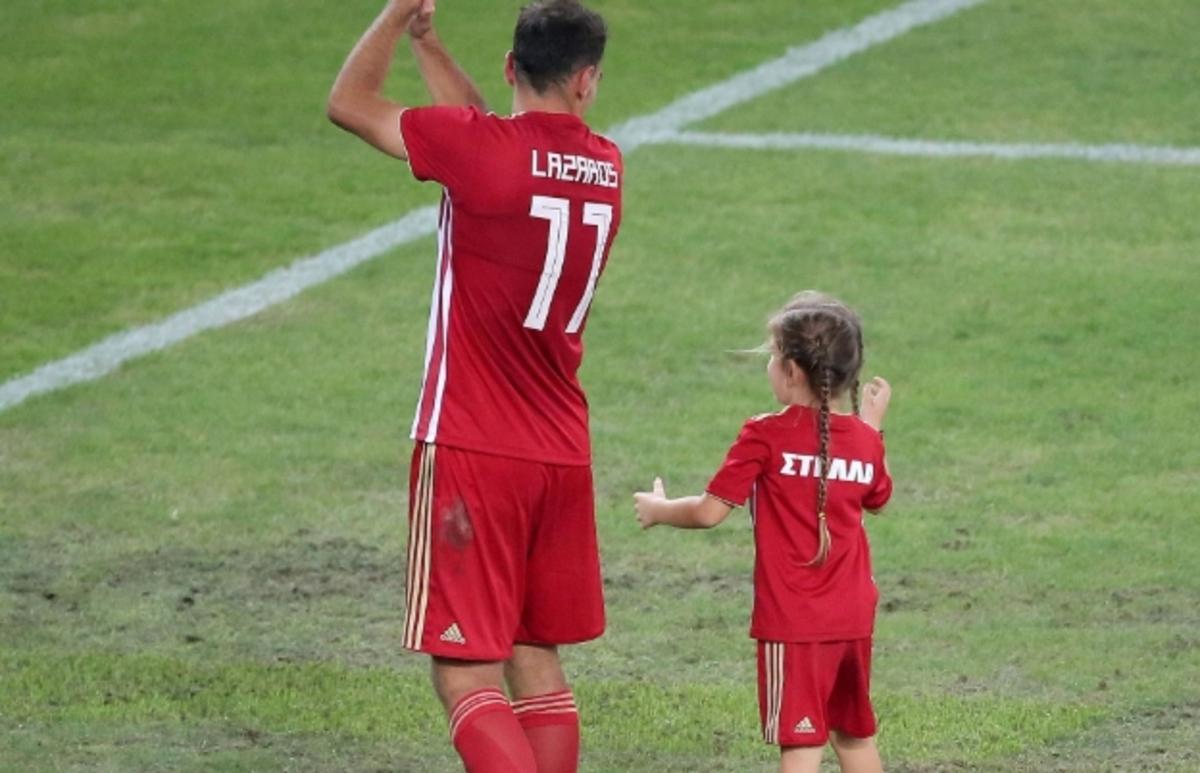 Ολυμπιακός – Χριστοδουλόπουλος: Η μικρή Στέλλα φόρεσε τα ερυθρόλευκα [pics]   Newsit.gr