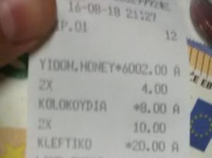 Ο λογαριασμός στην ταβέρνα έκρυβε εκπλήξεις – Το γιαούρτι με το μέλι δεν κόστιζε όσο νόμιζαν
