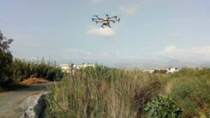 Με drone ψεκάζουν για τα κουνούπια στην Κρήτη [pics]