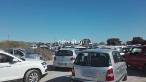 Κρήτη: Όλοι οι δρόμοι οδηγούν…στο Ελαφονήσι – Απίστευτο μποτιλιάρισμα