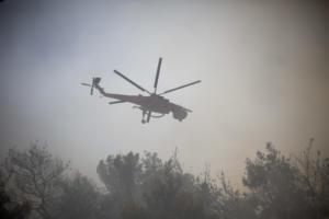 Φωτιά στο Μάτι: Το ελικόπτερο έμεινε από καύσιμα! Καθηλωμένα τα αεροπλάνα λόγω αέρα!