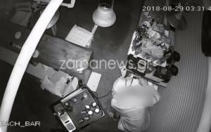 Κρήτη: Ο διαρρήκτης έκλεβε και… η κάμερα τον έγραφε – video