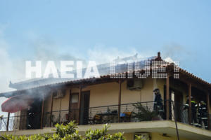 Ηλεία: Έτρωγαν στο ισόγειο και κατάλαβαν αργά τη φωτιά που εκδηλώθηκε στον πρώτο όροφο του σπιτιού – video