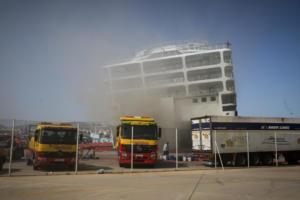 Ελευθέριος Βενιζέλος: Κίνδυνος ακόμη και να βουλιάξει – Καίει ακόμα η φωτιά