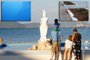 Πρέβεζα: Κάνουν φτερά τα κέρματα από το «συντριβάνι» με τη Γοργόνα