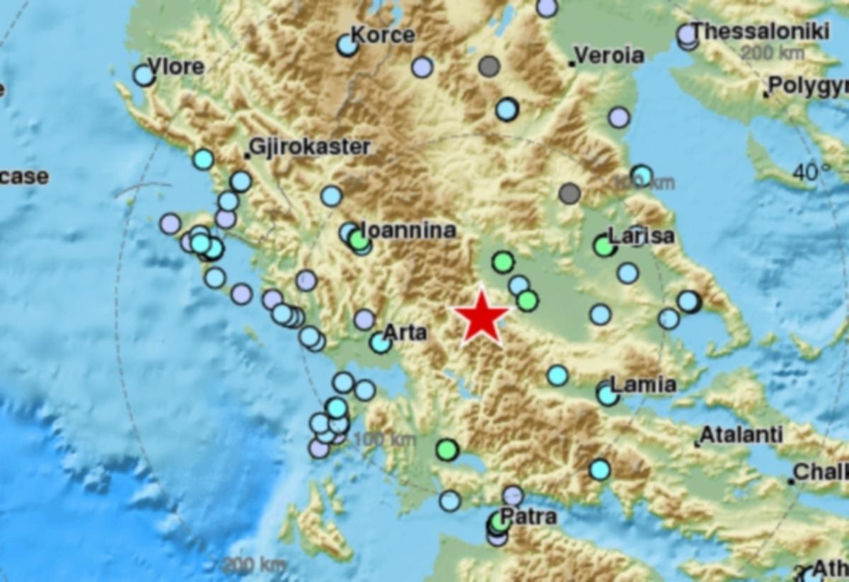 Σεισμός 4,9 Ρίχτερ πριν από λίγο αισθητός σε Τρίκαλα, Καρδίτσα, Λάρισα, Βόλο