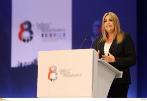 Γεννηματά: «Είμαστε η μόνη δύναμη με ολοκληρωμένη πρόταση για ανάπτυξη και κοινωνική ασφάλεια»