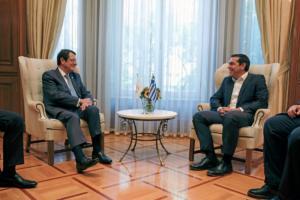 Συνάντηση Τσίπρα – Αναστασιάδη στο Μαξίμου