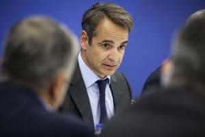 Μητσοτάκης: «Εμβληματική μεταρρύθμιση η μεταφορά του ΕΝΦΙΑ στους δήμους» – Τι είπε με το γιο του Κωνσταντίνου Στεφανόπουλου