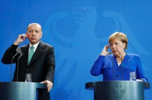 Βερολίνο: Μέρκελ – Ερντογάν ανακοίνωσαν Σύνοδο Κορυφής με Μακρόν – Πούτιν για τη Συρία