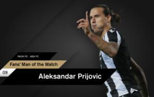 ΠΑΟΚ: Ο κόσμος ψήφισε τον «killer»! MVP ο Πρίγιοβιτς