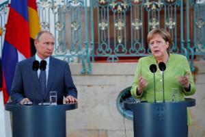 Ο Πούτιν είπε χαρτί και καλαμάρι στη Μέρκελ αυτά που συζήτησε με τον Ερντογάν