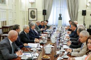 Επεισοδιακή η συνεδρίαση του Εθνικού Συμβουλίου Εξωτερικής Πολιτικής! Αποχώρησε ο Κουμουτσάκος