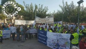 Θεσσαλονίκη: Ένστολοι διαμαρτύρονται έξω από το Λευκό Πύργο – video