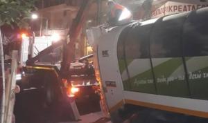 Θεσσαλονίκη: Απορριμματοφόρο «βούλιαξε» στην άσφαλτο [pics]