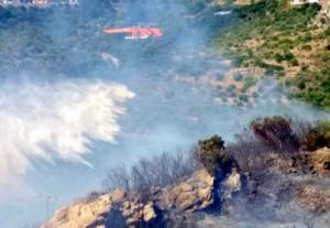 Κεφαλονιά: Μεγάλη φωτιά με ανέμους 9 μποφόρ – Εκκενώνεται σχολείο στο χωριό Πάστρα – Η μάχη της κατάβεσης [pics, video]