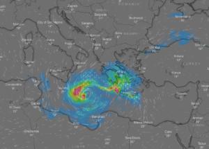 Καιρός: Δείτε live πως κινείται ο κυκλώνας «Ζορμπάς»