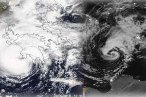 Ο κυκλώνας «Ζορμπάς» από το διάστημα! Εντυπωσιακή εικόνα της NASA