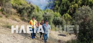 Ηλεία: Εντόπισαν τον αγνοούμενο δίπλα στις φλόγες – «Έβαλα φωτιά για να με βρείτε»