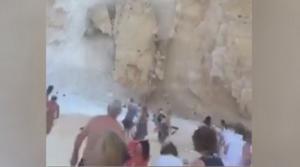 Ζάκυνθος: Η στιγμή της κατολίσθησης στο Ναυάγιο – Βίντεο ντοκουμέντο