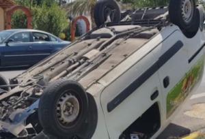 Ναύπλιο: Η αναστροφή που προκάλεσε καραμπόλα – Στο νοσοκομείο ένας από τους οδηγούς – video