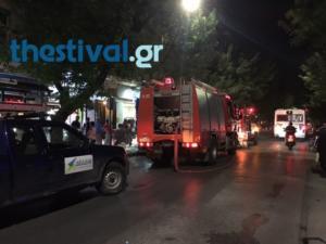 Φωτιά σε Ι.Χ μετά από σύγκρουση με λεωφορείο του ΟΑΣΘ