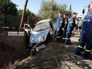 Δύο νεαροί τραυματίες σε τροχαίο στο Άργος – video