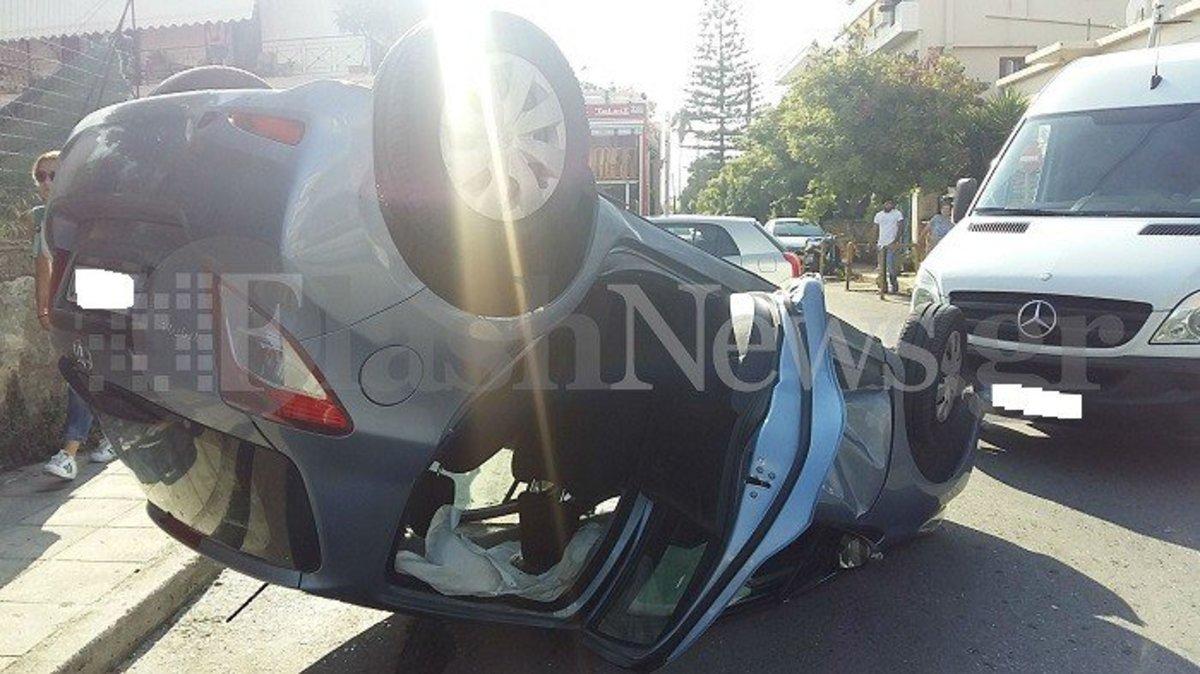 Χανιά: Τούμπαρε αυτοκίνητο με μητέρα και παιδιά! | Newsit.gr