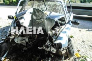 Ηλεία: Χαροπαλεύει νεαρή οδηγός μετά από τροχαίο – Η σύγκρουση που διέλυσε το αυτοκίνητό της [pics]