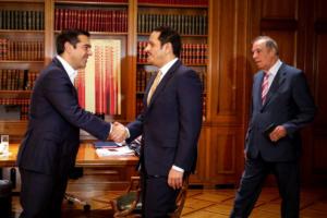 Συναντήσεις Τσίπρα με τον Δημήτρη Αβραμόπουλο και τον αναπληρωτή πρωθυπουργό του Κατάρ