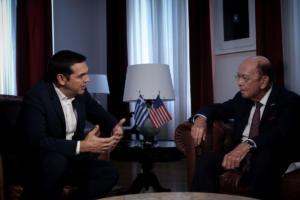 """Συνάντηση Τσίπρα με τον Γουίλμπουρ Ρος – """"Η Ελλάδα αφήνει πίσω της την κρίση"""" [pics]"""