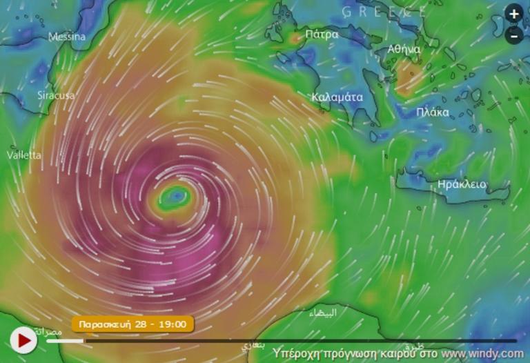 Καιρός – Κυκλώνας Ζορμπάς: Άνεμοι 100 χιλιομέτρων την ώρα! Ίσως είναι μόνο η αρχή