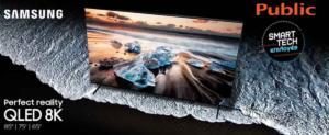 Η νέα σειρά τηλεοράσεων QLED 8K, Q900R της Samsung ήρθε στο Public και σας περιμένει για μια live δοκιμή!