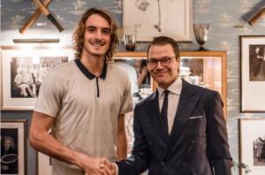 """Ο Έλληνας… Πρίγκιπας του τένις στο πλάι του Σουηδού """"γαλαζοαίματου""""! [pic]"""
