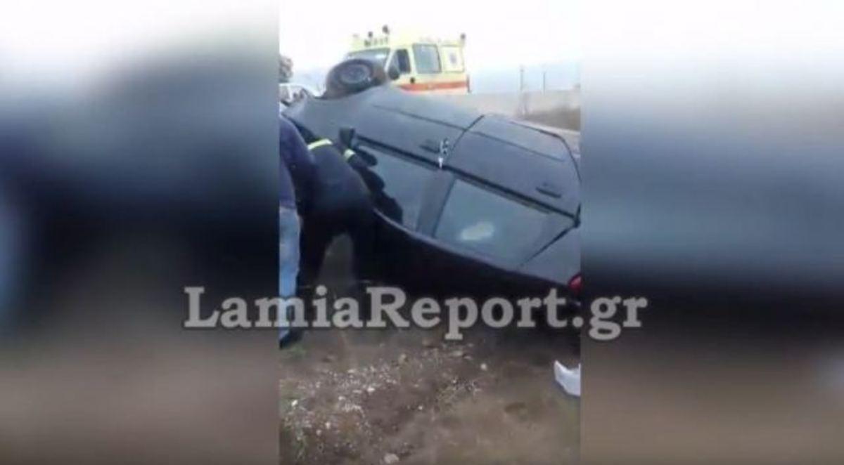 Φθιώτιδα: Τούμπαρε το αυτοκίνητο, εγκλωβίστηκε η οδηγός – video | Newsit.gr