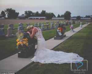 Συγκλονίζει η εικόνα της νύφης μπροστά από το μνήμα του αγαπημένου της!