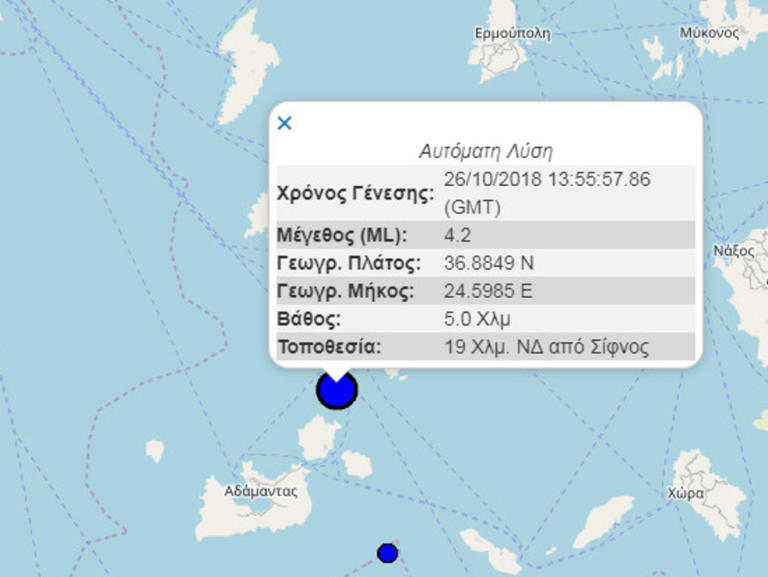 Διαψεύδει τον σεισμό στην Σίφνο το Γεωδυναμικό Ινστιτούτο | Newsit.gr