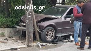 Κατερίνη: Η αδιαθεσία στο τιμόνι έφερε τροχαίο με τραυματισμό [pics]